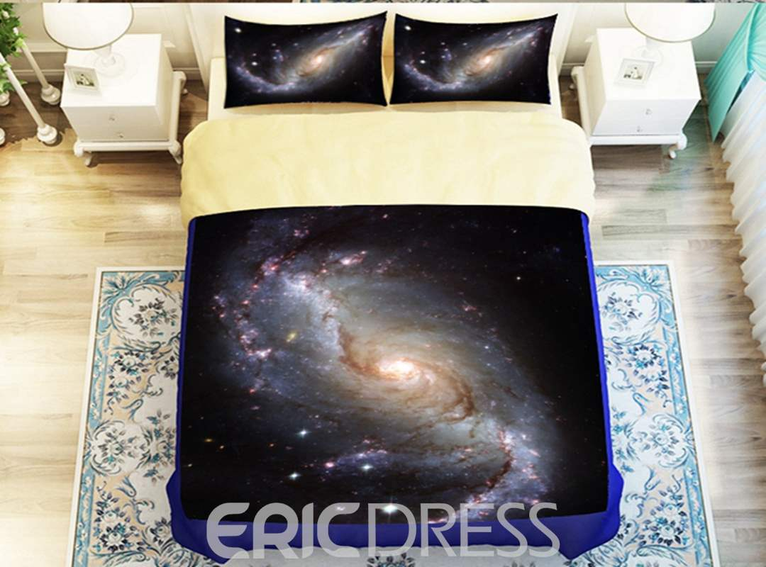 Beautiful Nebula Print 4-Piece Polyester Duvet Cover Sets