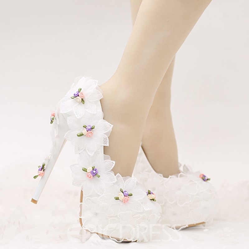 Ericdress Dreaming Lace Flower Wedding Shoes