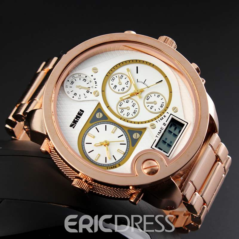Ericdress Trendy Big Dial Plate Dual Display Business Watch