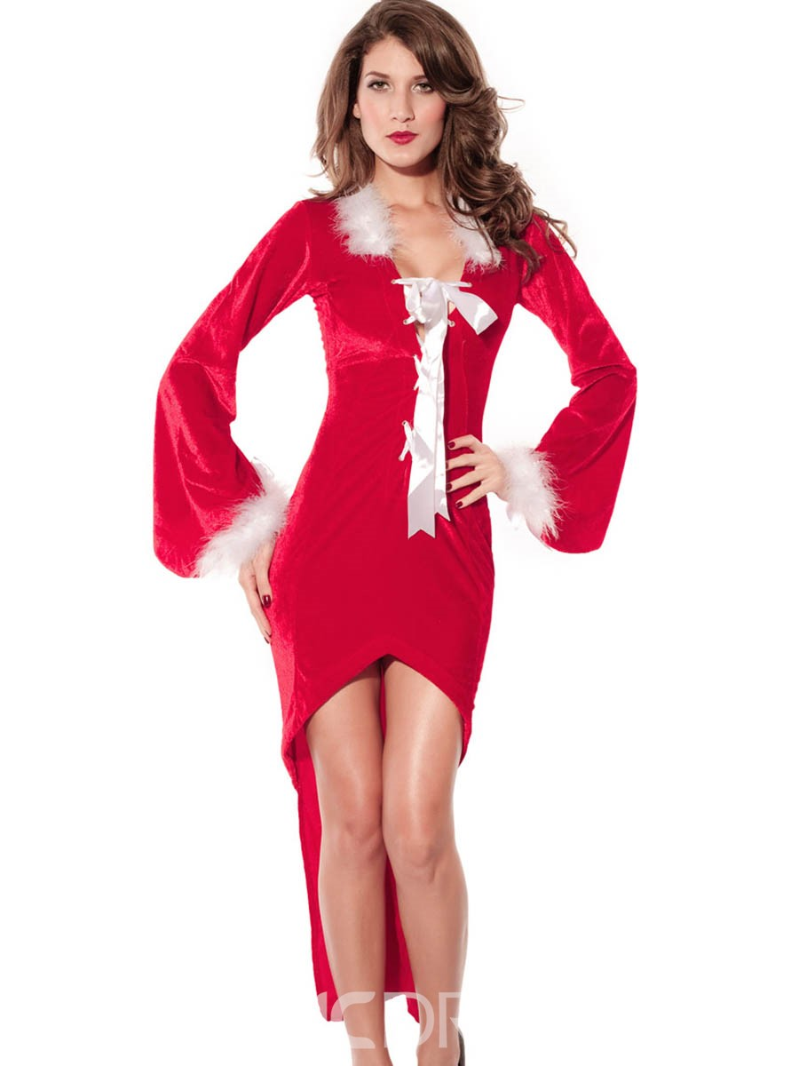 Ericdress Sexy Strappy Bowknot Swallowtail Christmas Costume