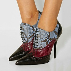 Ericdress Snake Print Point Toe High Heel Boots