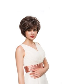 Ericdress Loose Short Straight Human Hair Capless Wig 10 Inches