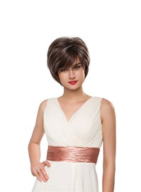 Ericdress Short Straight Loose Layered Human Hair Capless Wig 10 Inches