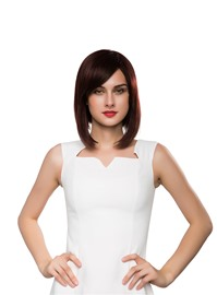 Ericdress Medium Straight Graduated Bob Human Hair Capless Wig 14 Inches