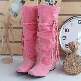 Ericdress Pretty Girl Tassels Knee High Boots