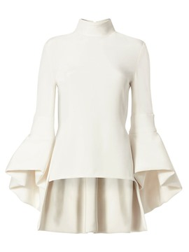 Ericdress Plain Stand Collar Bell Sleeves Blouse