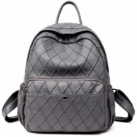 Ericdress Light Plaid Thread Travel Backpack