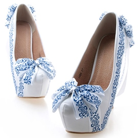 Ericdress Bowtie Ultra-High Heel Wedding Shoes