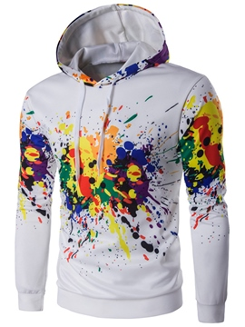Ericdress Paint Print Casual Pullover Men's Hoodie