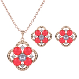 Ericdress Colorful Rhinestone Inlaid Alloy Jewelry Set