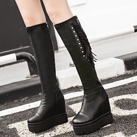 Ericdress Cool Rivets&tassels Platform Knight Boots