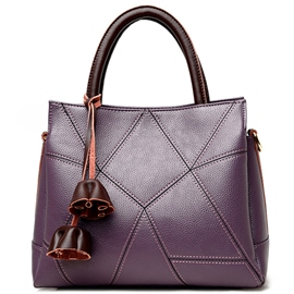 Ericdress Lichee Grained Patchwork Handbag