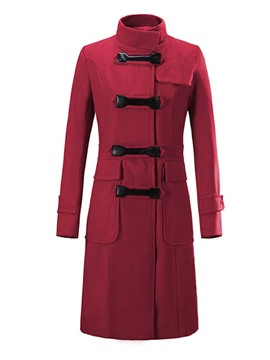 Ericdress Slim Stand Collar Thick Coat