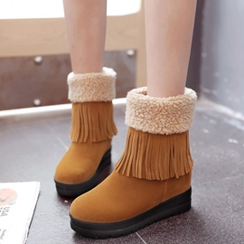 Ericdress Suede Tassels Snow Boots