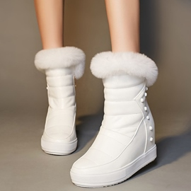 Ericdress Fashion Rivets Elevator Heel Snow Boots