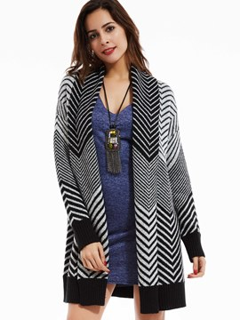 Ericdress Loose Geometric Pattern Cardigan Knitwear