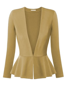 Ericdress Slim Deep-V Solid Color Blazer