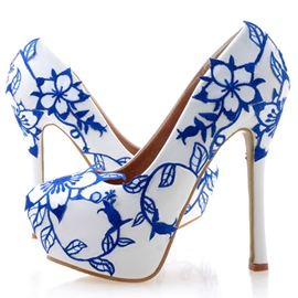Ericdress Appliques Ultra-High Heel Wedding Shoes