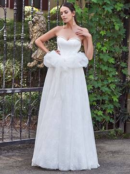 Ericdress Charming Sweetheart A Line Lace Garden Wedding Dress