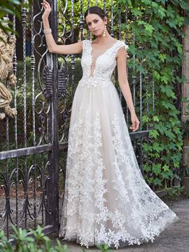 Ericdress charme Scoop applications une robe de mariée dos-nu de ligne