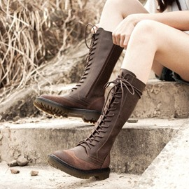 Ericdress Retro Lace Up Hiking Boots
