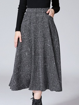 Ericdress Pleated High-Waist Expansion Skirt