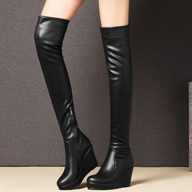 Ericdress Cool Platform Wedge Heel Over-the-Knee Boots