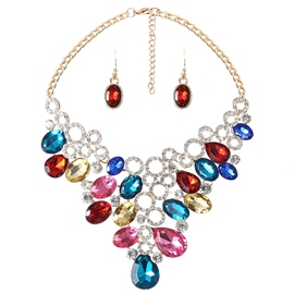 Ericdress Water Drop Gemstones Design Alloy Jewelry Set