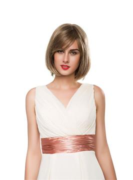 Ericdress Bob Medium Straight Human Hair Capless Wig