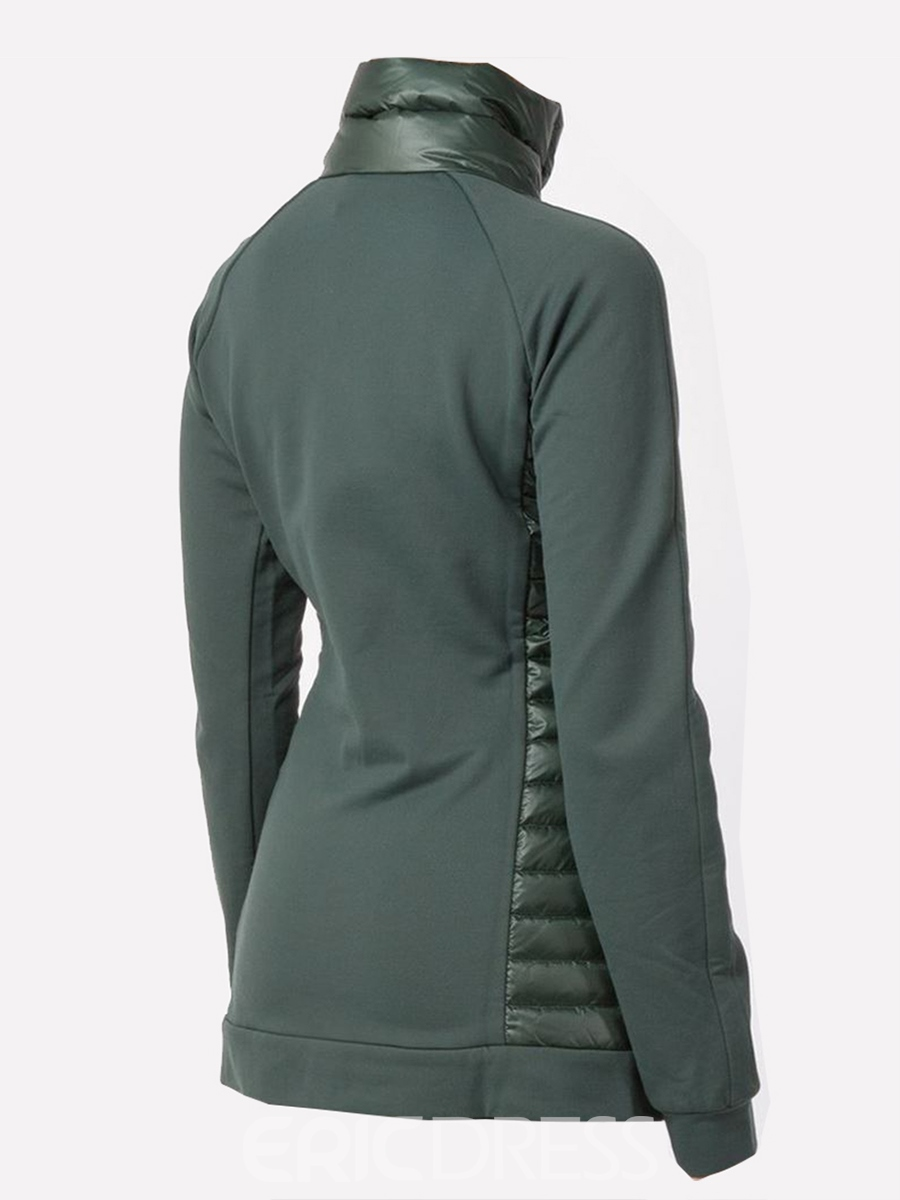 Ericdress Slim Zipper Turtleneck Cool Hoodie