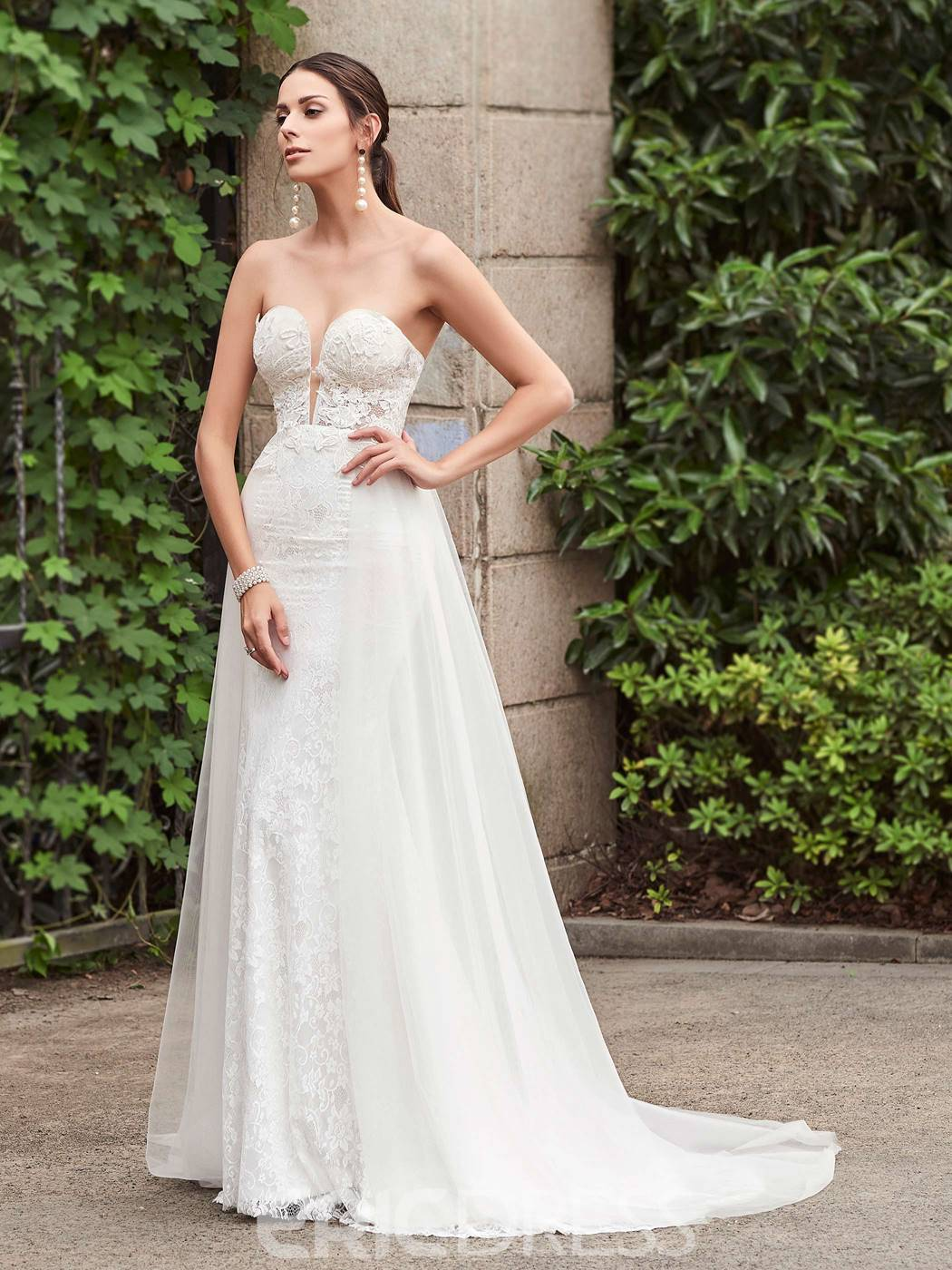 Ericdress Charming Sweetheart Appliques Lace Mermaid Wedding Dress