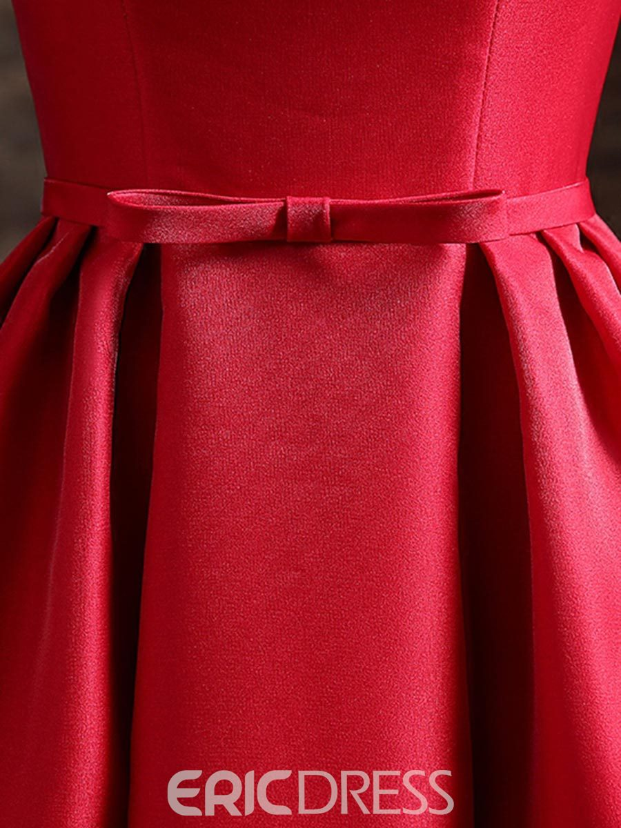 Ericdress A-Line Off-the-Shoulder Homecoming Dress With Knee-Length