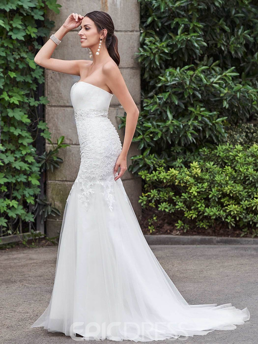 Ericdress High Quality Appliques Beaded Sweetheart Mermaid Wedding Dress