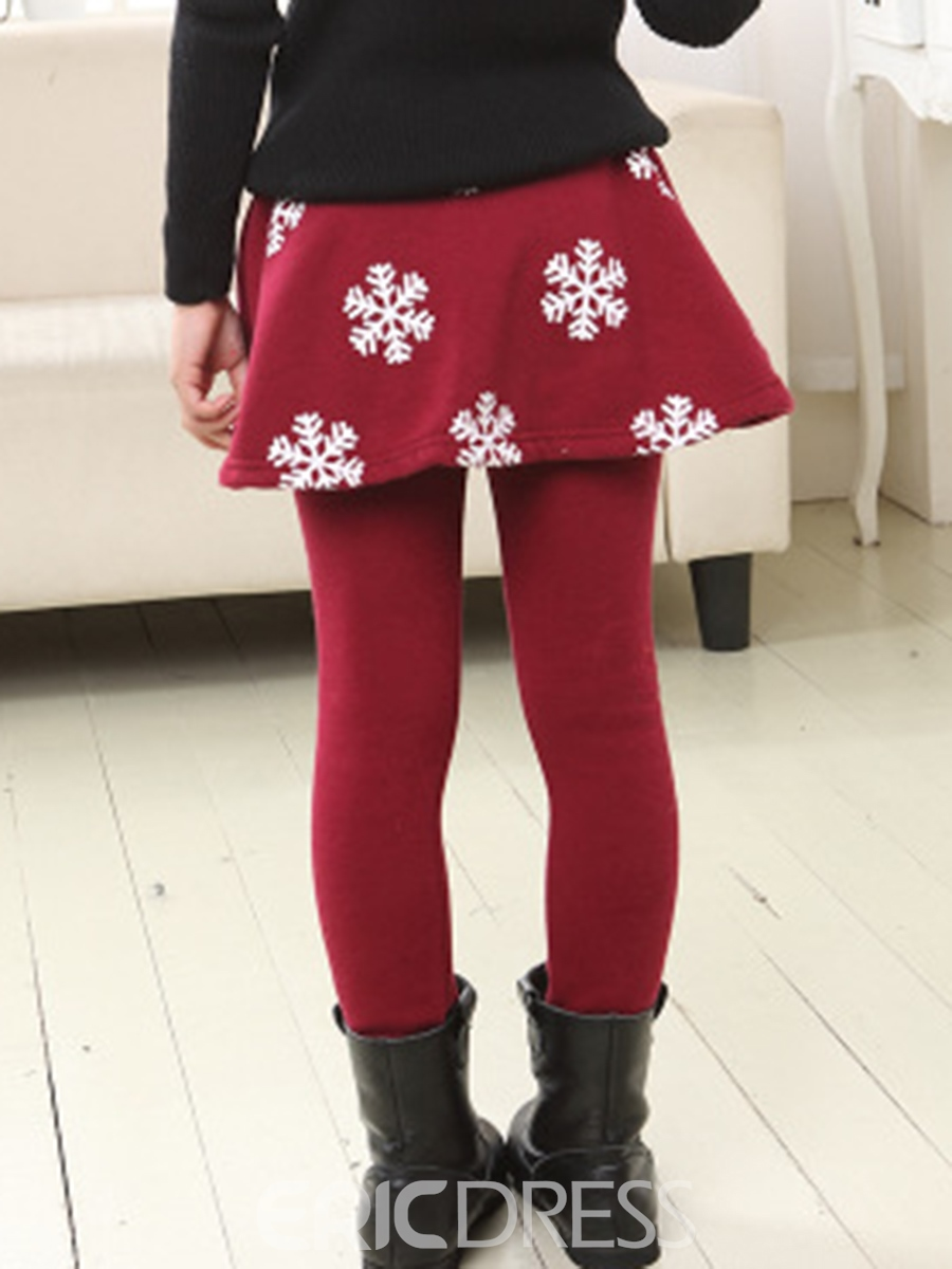 Ericdress Snowflake Printed Girls Leggings