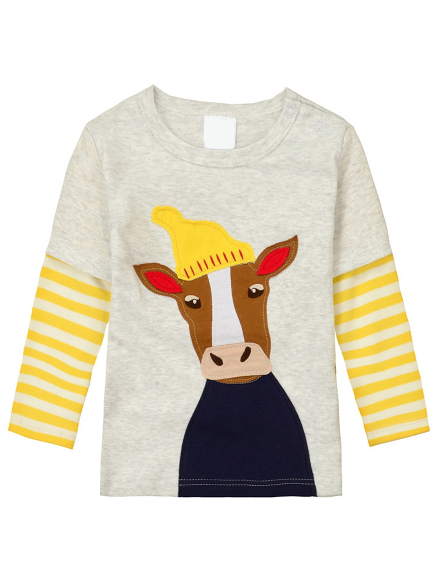 Ericdress Animal Print Stripe Boys And Girls Leisure T-Shirt