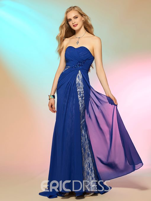 Ericdress Sexy Sweetheart Lace Chiffon Prom Dress