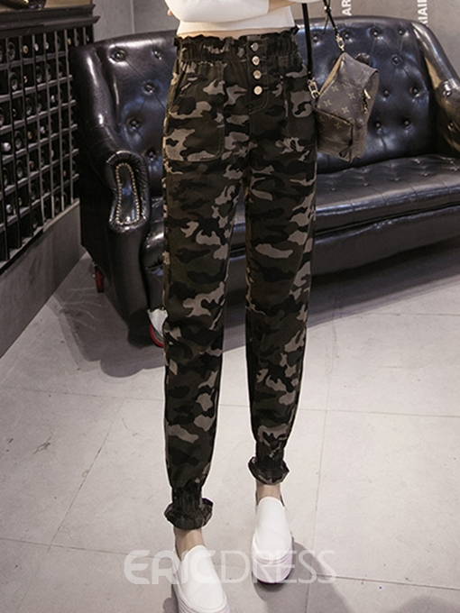 Ericdress Camouflage Thick Harem Pants
