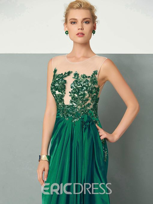 Ericdress Applique Mermaid Evening Party Dress