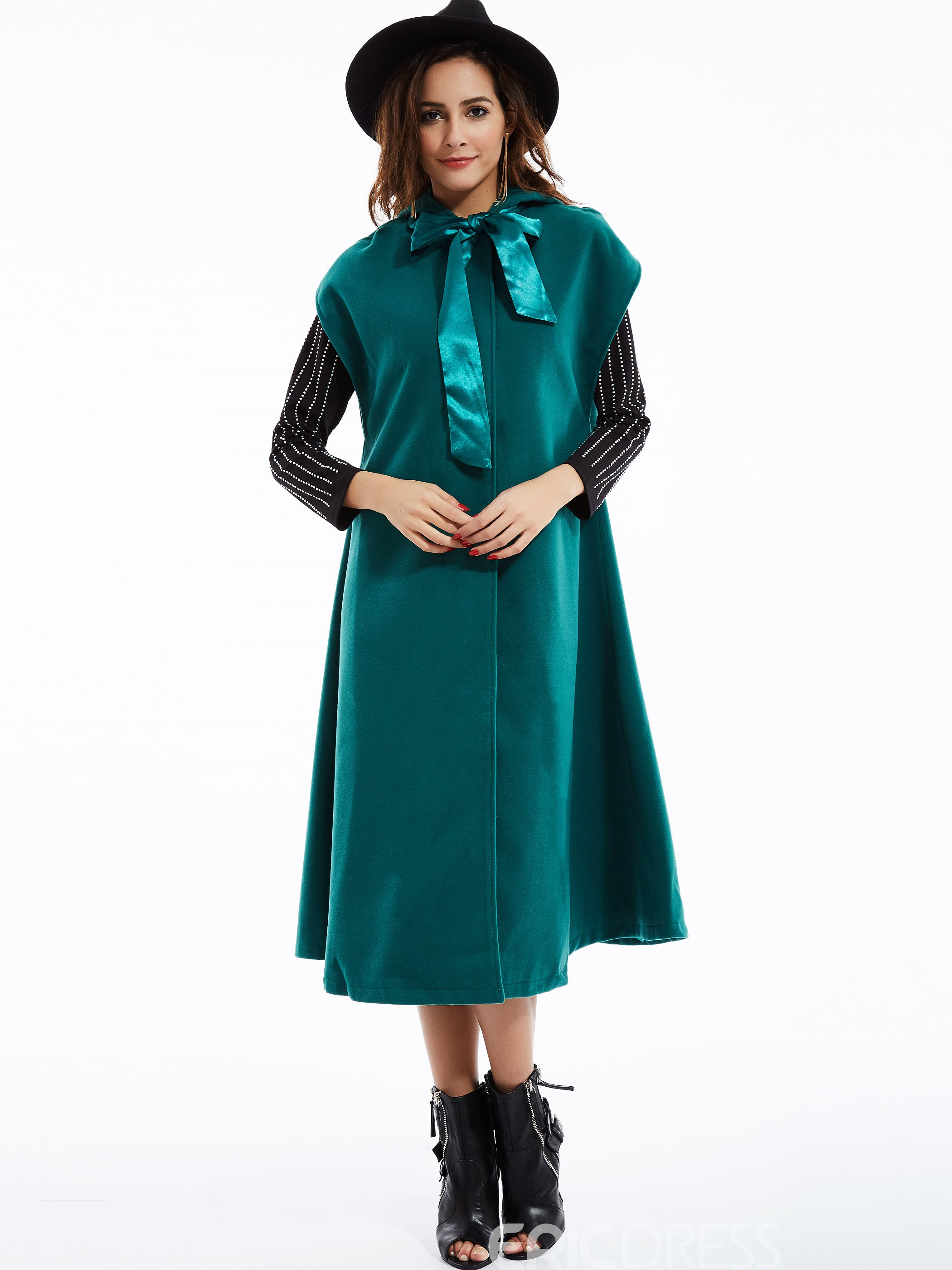Ericdress Solid Color Loose Wave Cut Cape