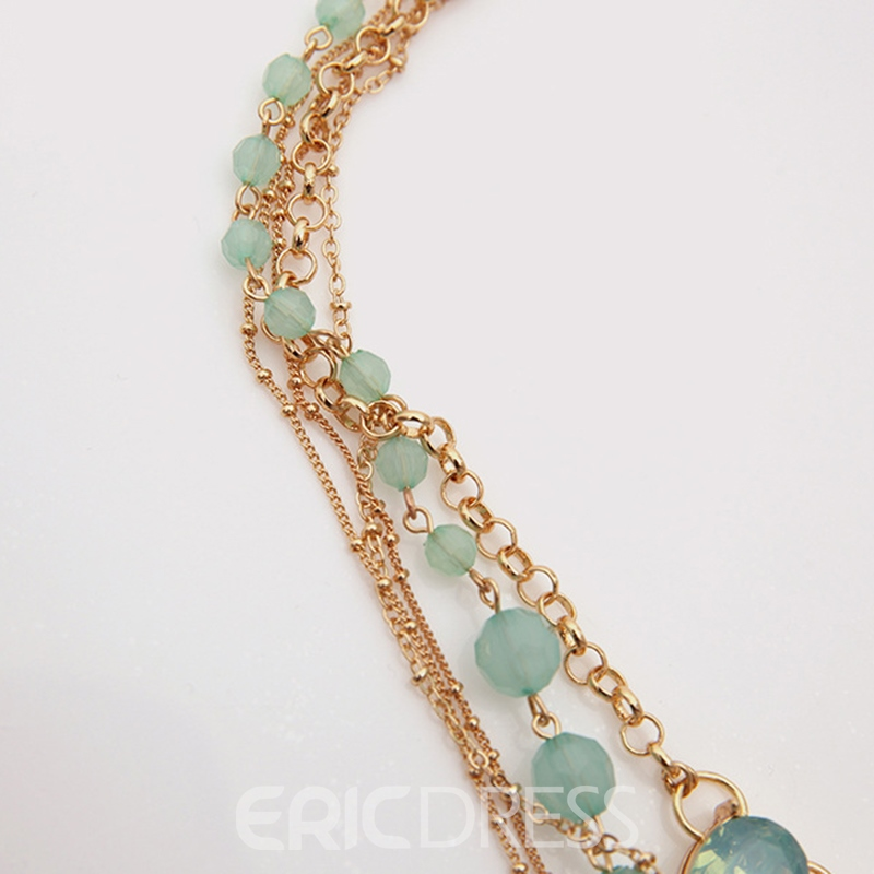 Ericdress Bohemian Multilayer Beaded Necklace