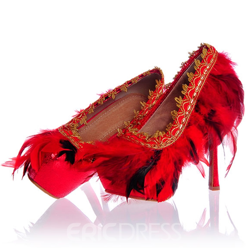 Ericdress Ultra-High Heel Feather Wedding Shoes
