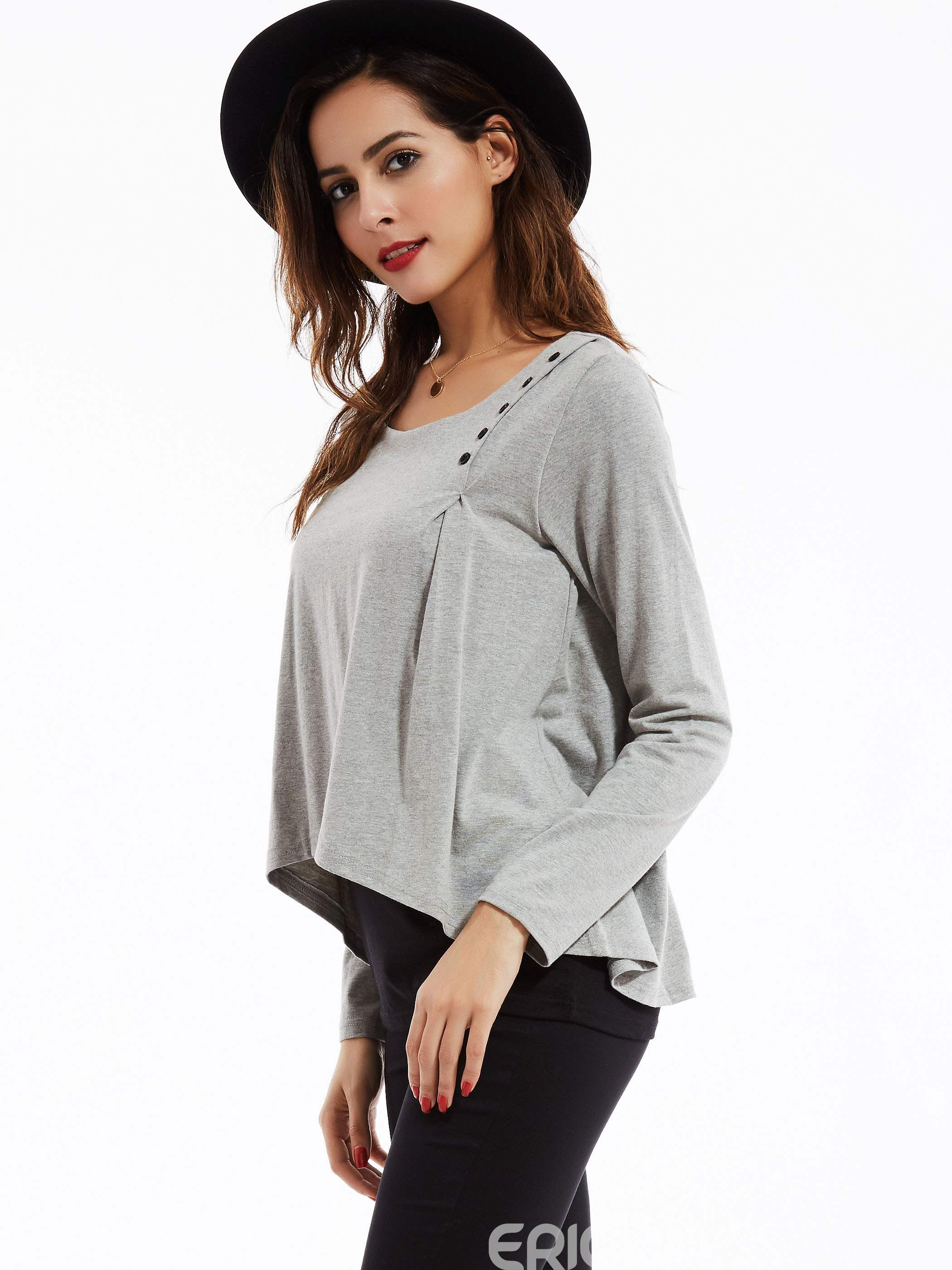 Ericdress Vogue Long-sleeved Tunic T-shirt