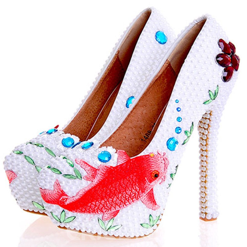 Ericdress Charming Beads Ultra-High Heel Wedding Shoes
