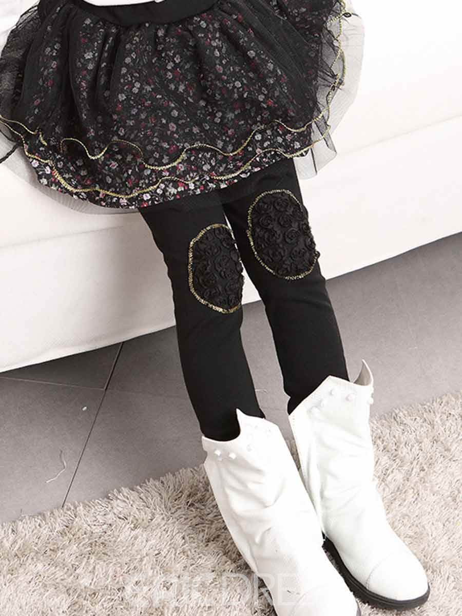 Ericdress Floral TUTU Skirt Girls Leggings