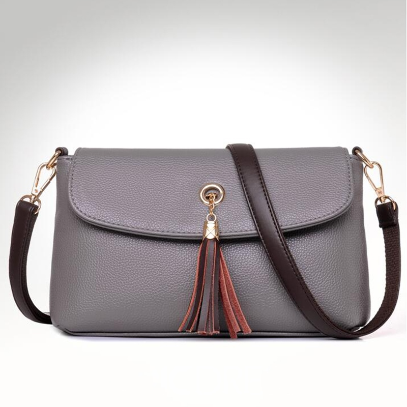 Ericdress Versatile Pure Color Tassel Shoulder Bag