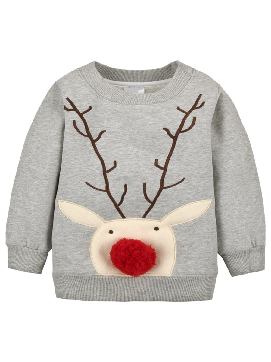 Ericdress Animal Printed Christmas Girls T-Shirts