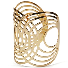 Ericdress Gold Ton hohl-Out Öffnung breite Armband