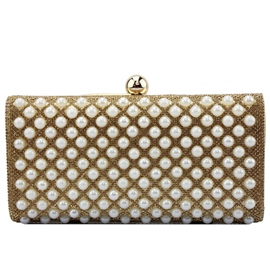 Ericdress Sweet Plaid Rhinestone Evening Clutch