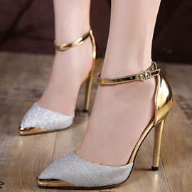 Ericdress luxe métal & paillettes Point Toe Pumps