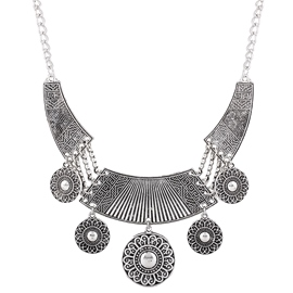 Ericdress Retro Antique Silver Pendant Necklace